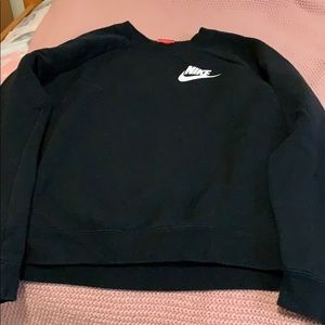 Black Nike crewneck